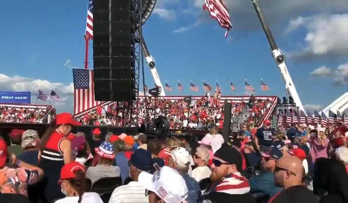 تجمع هواداران ترامپ بدون رعایت پروتکلهای بهداشتی!