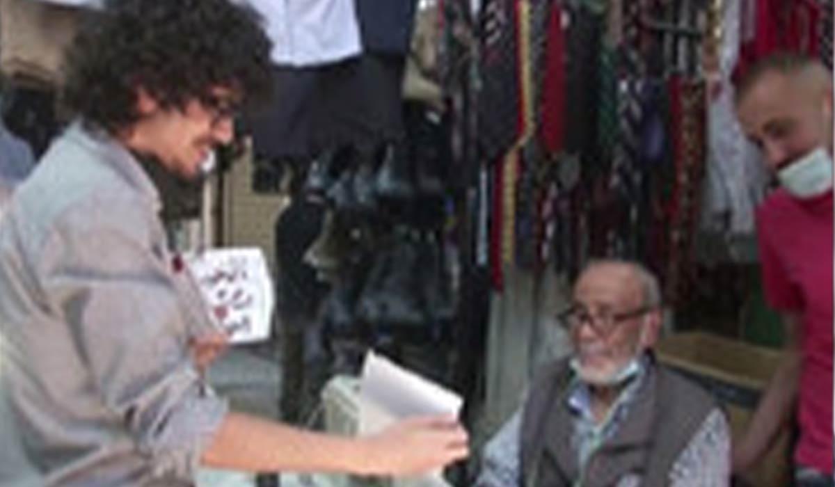 غریبه ها سوژه هنرمند نقاش اردنی!