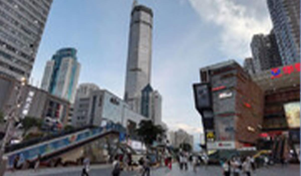 لرزش های شدید آسمان خراش 300 متری در چین!