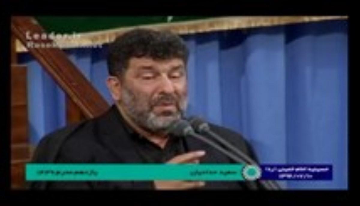 حاج سعید حدادیان و کربلایی محمد حسین حدادیان - شب 24 محرم 96 - از مشک معلوم است با جسمت چه کردند (روضه)