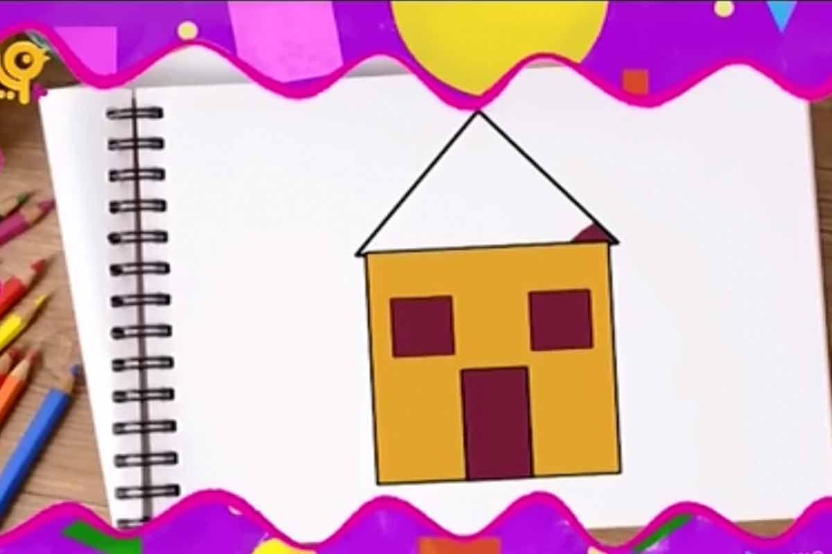 کاردستی خانه رنگی