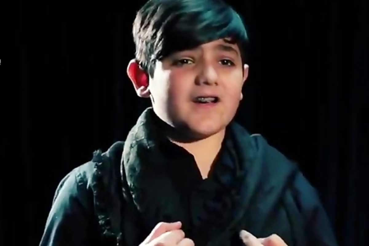 مداحی کودک لبنانی ذوالفقار سرور برای امام حسین(ع)
