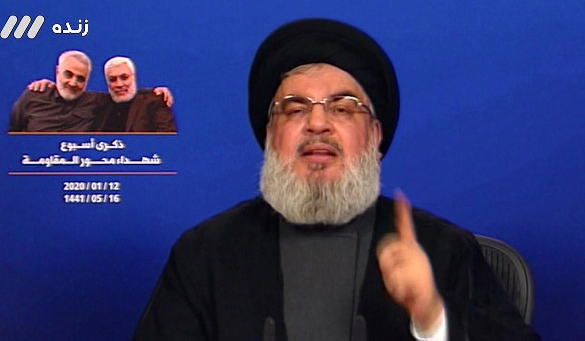 دبیرکل حزبالله: تمام پایگاه های نظامی منطقه در تیررس ایران