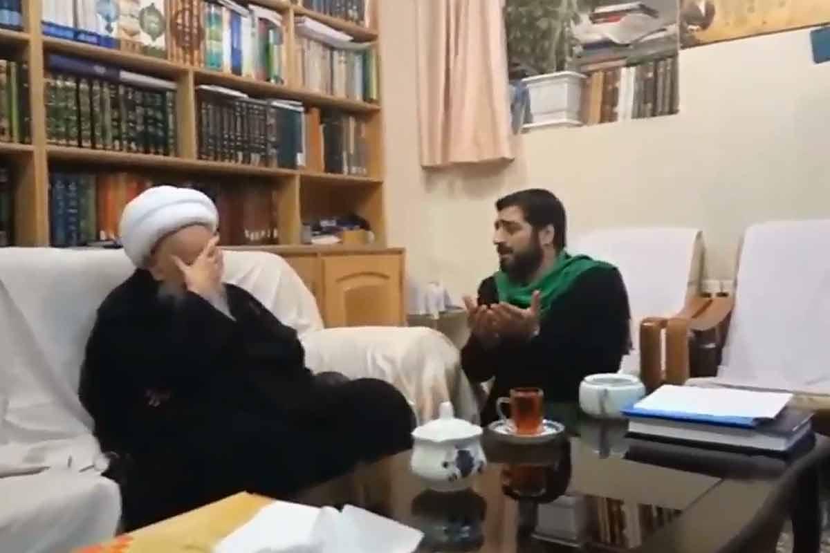 روضه خوانی بنیفاطمه در محضر آیتالله صافی گلپایگانی
