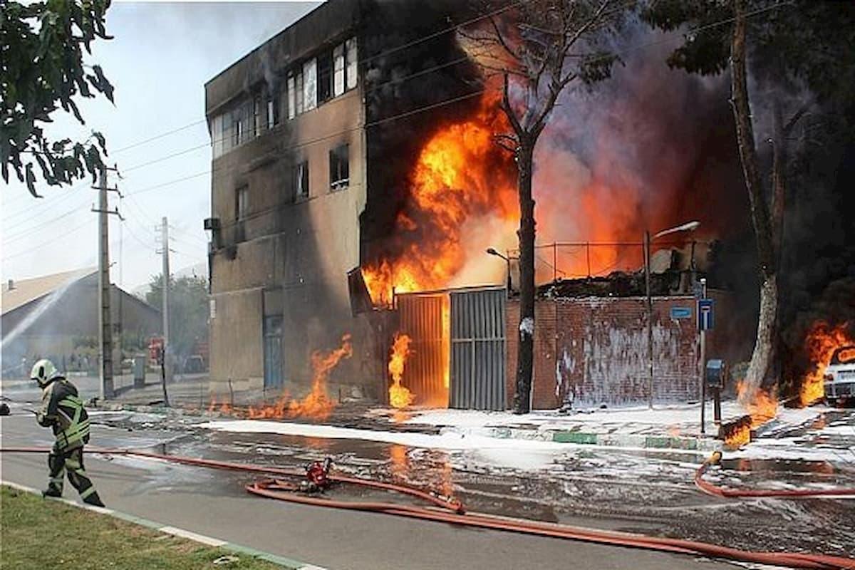علت آتش سوزی کارخانه لبنیات میهن چه بود؟