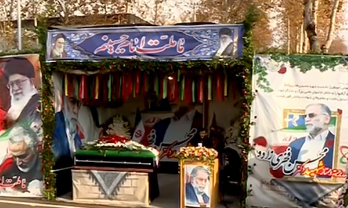 مراسم تشییع پیکر شهید محسن فخری زاده