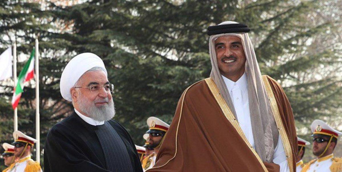 امیر قطر با رئیس جمهور دیدار کرد