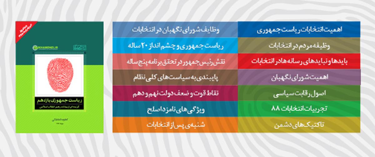 کتابچهی انتخاباتی KHAMENEI.IR منتشر شد