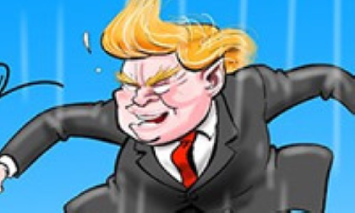 کاریکاتور / خروج ترامپ از جامعه جهانی!!!