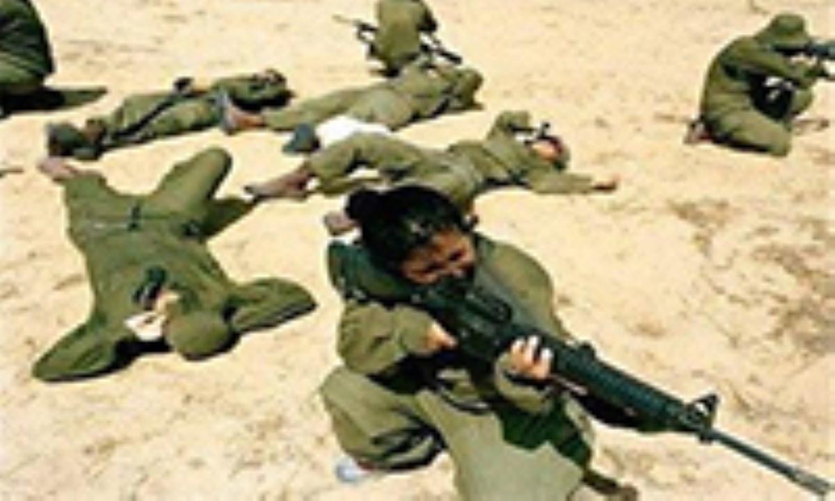 زنان کماندو صهیونیست در مرز مصر