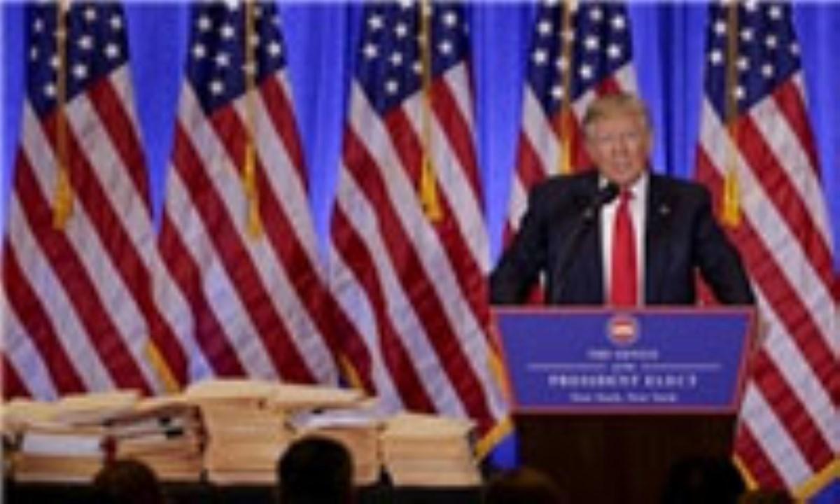 ترامپ : دولت اوباما داعش را به وجود آورد / آمریکا از نظر دفاع سایبری بسیار ضعیف است / اخبار سیانان جعلی است