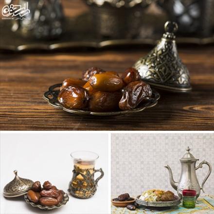 تصاویر استوک از چای و خرما ویژه ماه رمضان