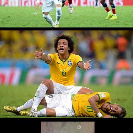 شکستن مهره کمر نیمار در بازی تیم ملی برزیل و کلمبیا