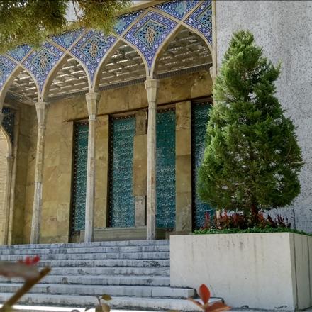 بخشی از بنای آرامگاه صائب تبریزی