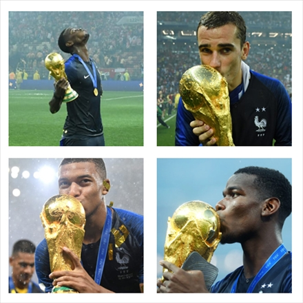 تصاویر مراسم اهدای جام جهانی 2018 به فرانسه