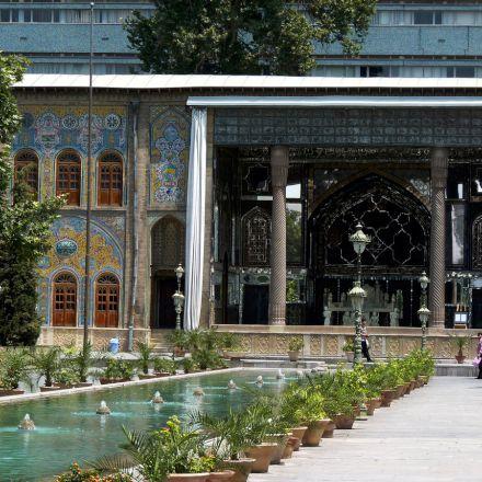 کاخ گلستان/حیاط و حوض میانی