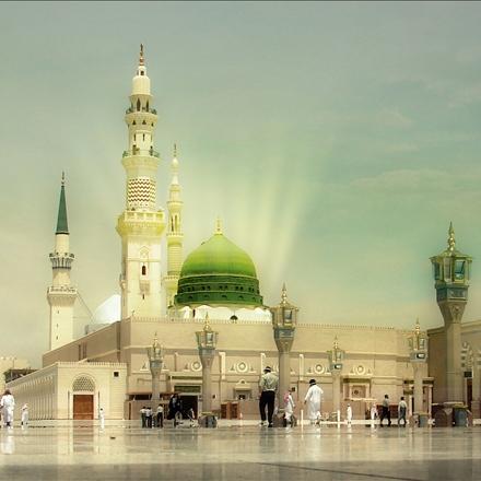 نمایی از حرم زیبای حضرت محمد مصطفی صلی الله علیه و آله