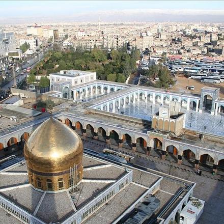 عکس هوایی ازحرم حضرت زینب سلام الله علیها