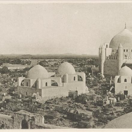 عکس بقیع، پیش از تخریب در سال ۱۳۰۶ خورشیدی