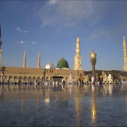 عکس صحن و سرای حرم شریف پیامبر اسلام صلی الله علیه و آله