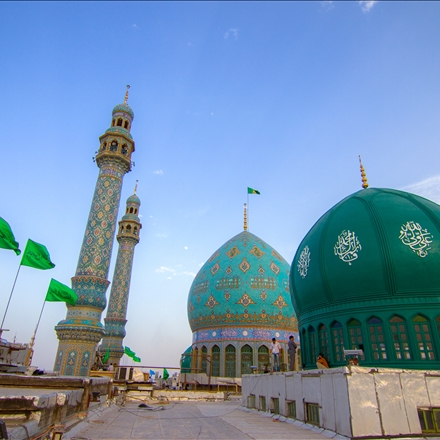 گنبد و گلدسته مسجد مقدس جمکران