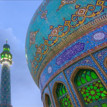 نقوش و کاشیکاری کنبد مسجد مقدس جمکران