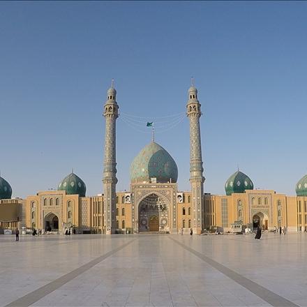 نما جلو مسجد مقدس جمکران