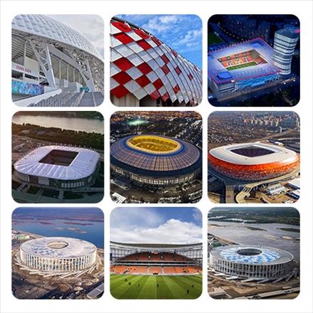 مجموعه تصاویر استادیوم های جام جهانی 2018 روسیه