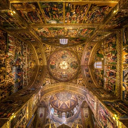 نقاشی های سقف کلیسای وانک