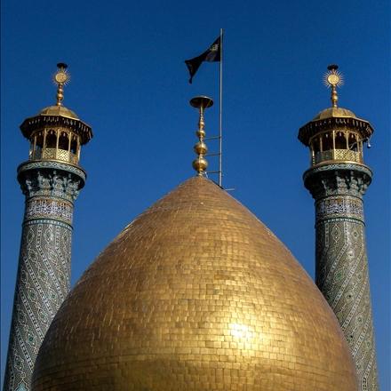 عکس گنبد و گلدسته های حرم عبدالعظیم حسنی علیه السلام