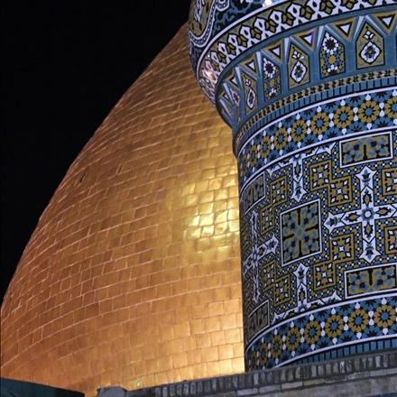 بخشی از بنای مرقد مطهر حضرت عبدالعظیم علیه السلام