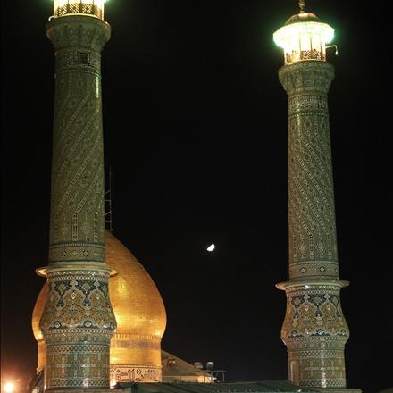 نمایی از گنبد و گلدسته های حرم نورانی حضرت عبدالعظیم علیه السلام