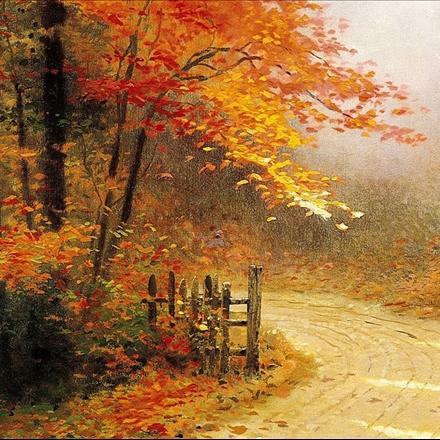 نقاشی زیبا از جنگل
