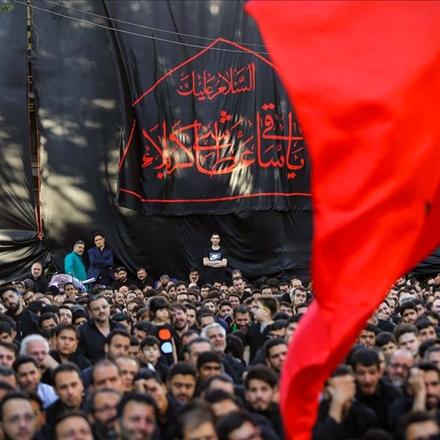 تصاویر مراسم عزاداری هئیت رزمندگان تهران، هیئت رایة العباس شب سوم