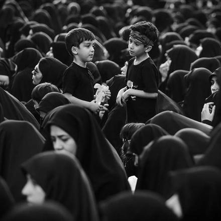 عکس کودکان عزادار امام حسین علیه السلام