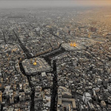 عکس هوایی از بین الحرمین