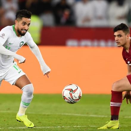 بازی زیبای تیم ملی عربستان و تیم ملی قطر