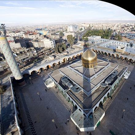 عکس هوایی از حرم حضرت زینب سلام الله علیها