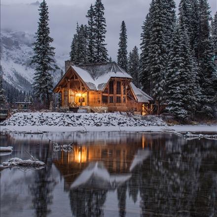 منظره زیبای زمستانی