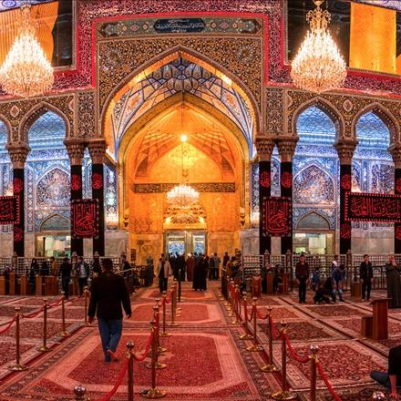 ایوان طلای حرم  امام حسین علیه السلام