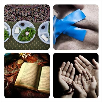 مجموعه عکس نوشته های بایدها و نبایدهای ماه مبارک رمضان/ پویش قرار ماه نهم