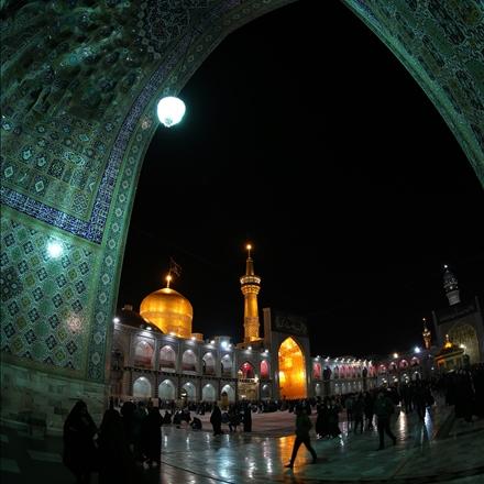 عکس صحن اصلی حرم امام رضا علیه السلام