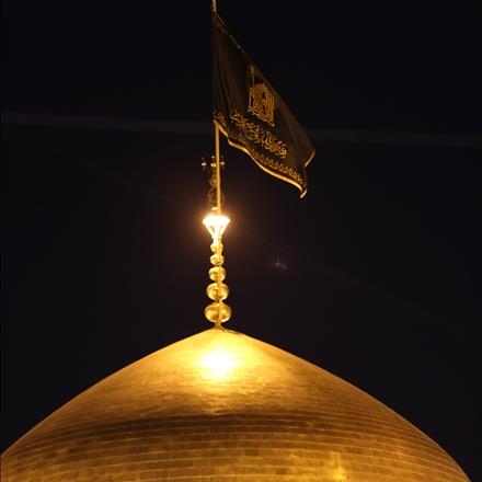 عکس پرچم حرم مطهر امام رضا علیه السلام