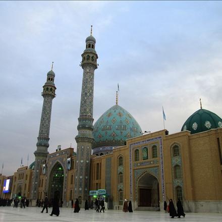 نمایی از صحن سرای مسجد مقدس جمکران