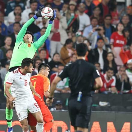 تیم ملی ایران و تیم ملی چین در مرحله یک چهارم  نهایی