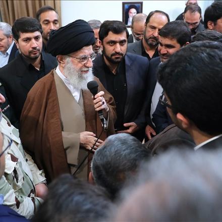 دیدار مسئولان سازمان پدافند غیر عامل با رهبر انقلاب