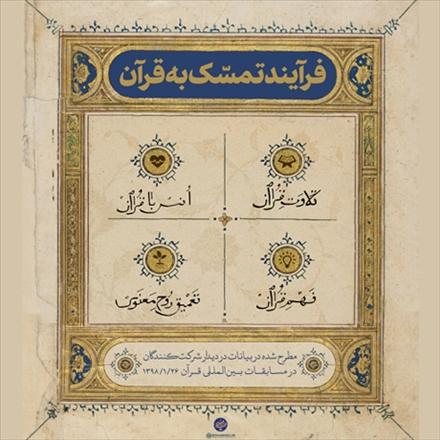 اینفوگرافی فرآیند تمسک به قرآن