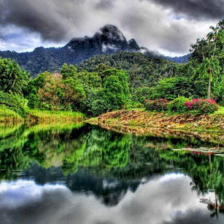 دریاچه پرآب در فصل گرم