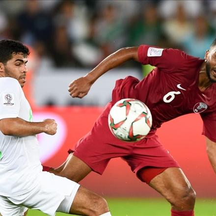 دیدار تیم ملی عربستان سعودی و تیم ملی قطر