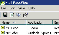 بازیابی پسورد ایمیل با Mail PassView V1.76